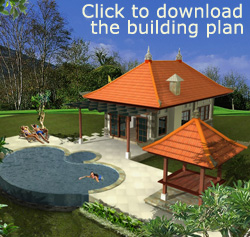 1-bedroom Villa: Click to download the building plan